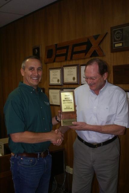 DETEX Wins Most Improved Safety Program Award